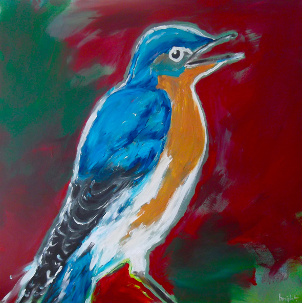 the bird   acrylic on canvas   2012   janet bright