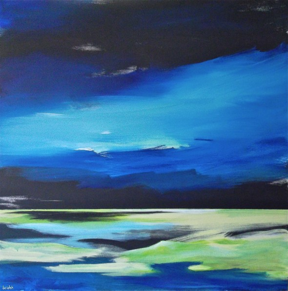 "a. boreali / 48"" x 48"" / acrylic on canvas / janet bright / 2012"