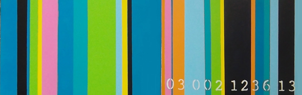 commodity of colour 03 002 1236 13    2nd in series  12 inches x 36 inches 2013  janet bright