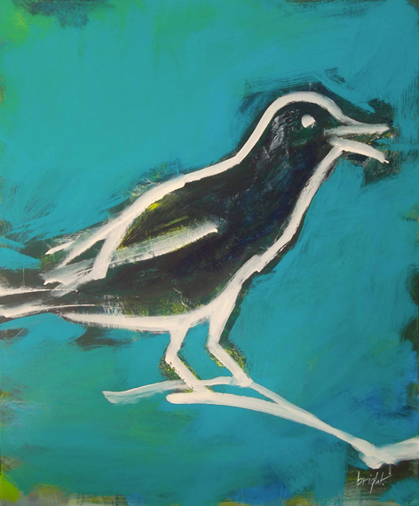 id never eat a starling  30 inches x 36 inches 2013   janet bright