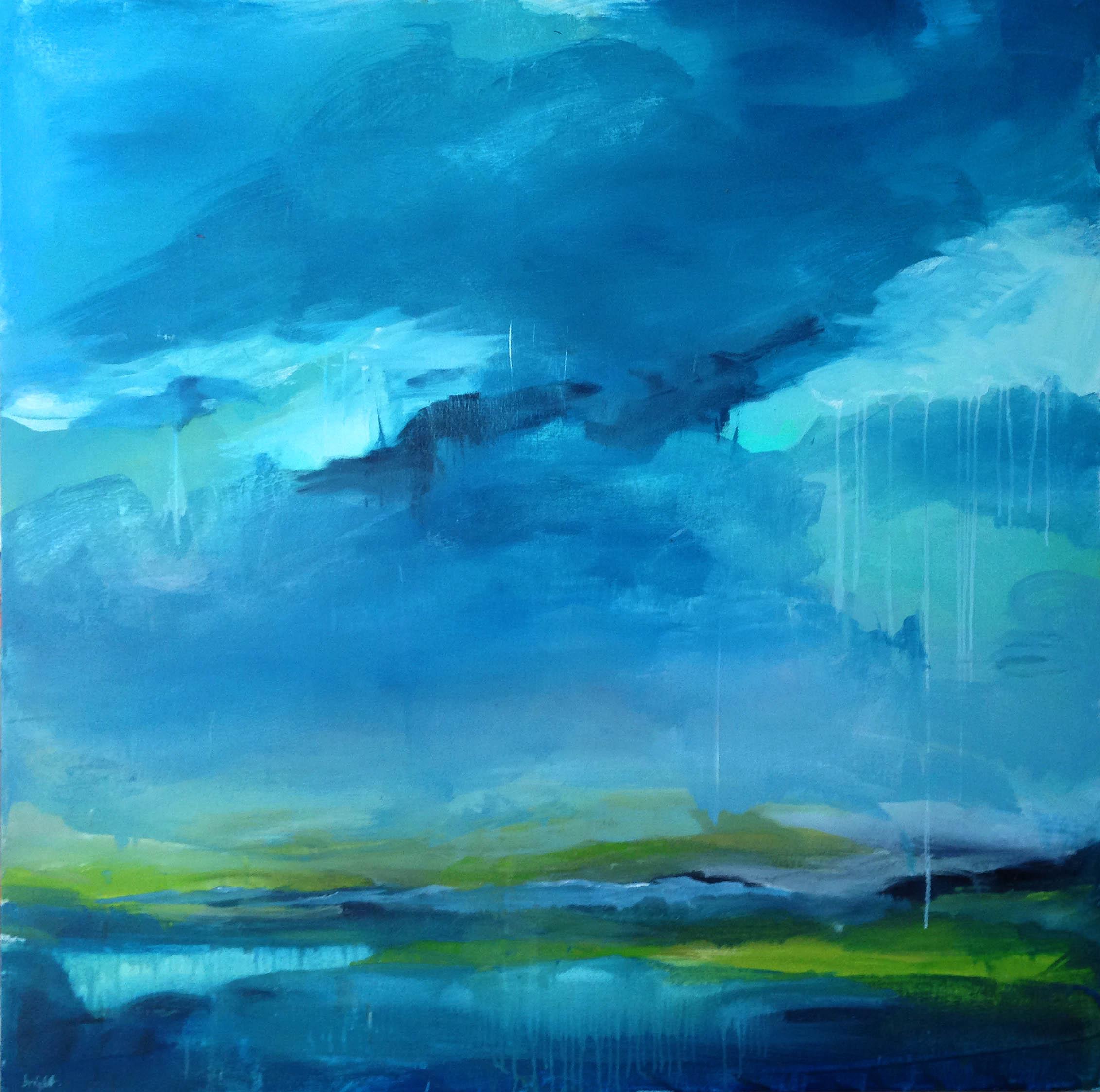 rain fall created en plain air janet bright landscape painting in canada
