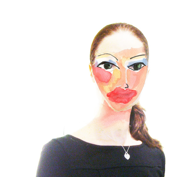 lips mask janet bright painting and photography digital