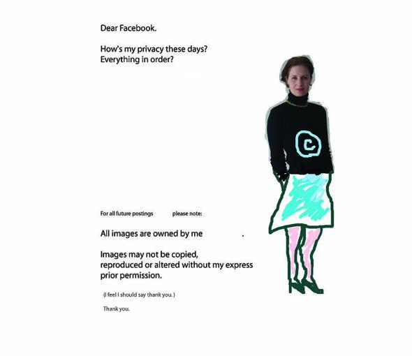 dear Facebook instagram fine print posts youtube copyright