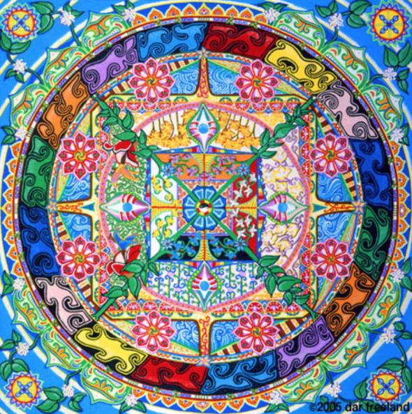 sand mandala meditative symbolic art ephemeral life creation destruction