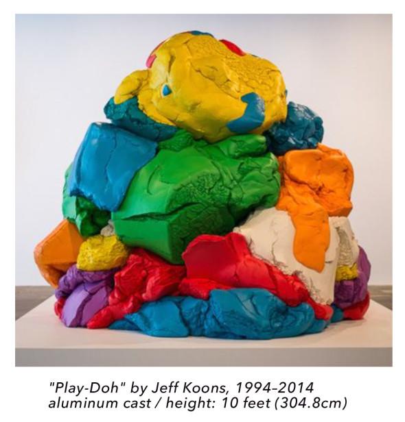 play doh jeff koons sculpture huge art antidisestablishmentarianism