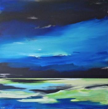 a. boreali canadian art landscape janet bright aurora borealis