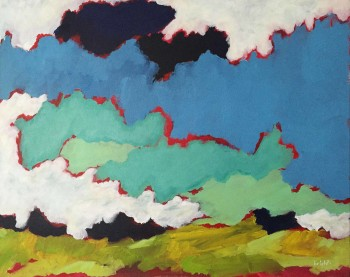 early at the field canadian art painting acrylic on canvas landscape
