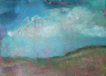 seche 6 x 8 acrylic on canvas paper painting art landscape janet bright