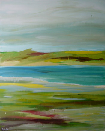 autumn bay canadian landscape painting janet bright art