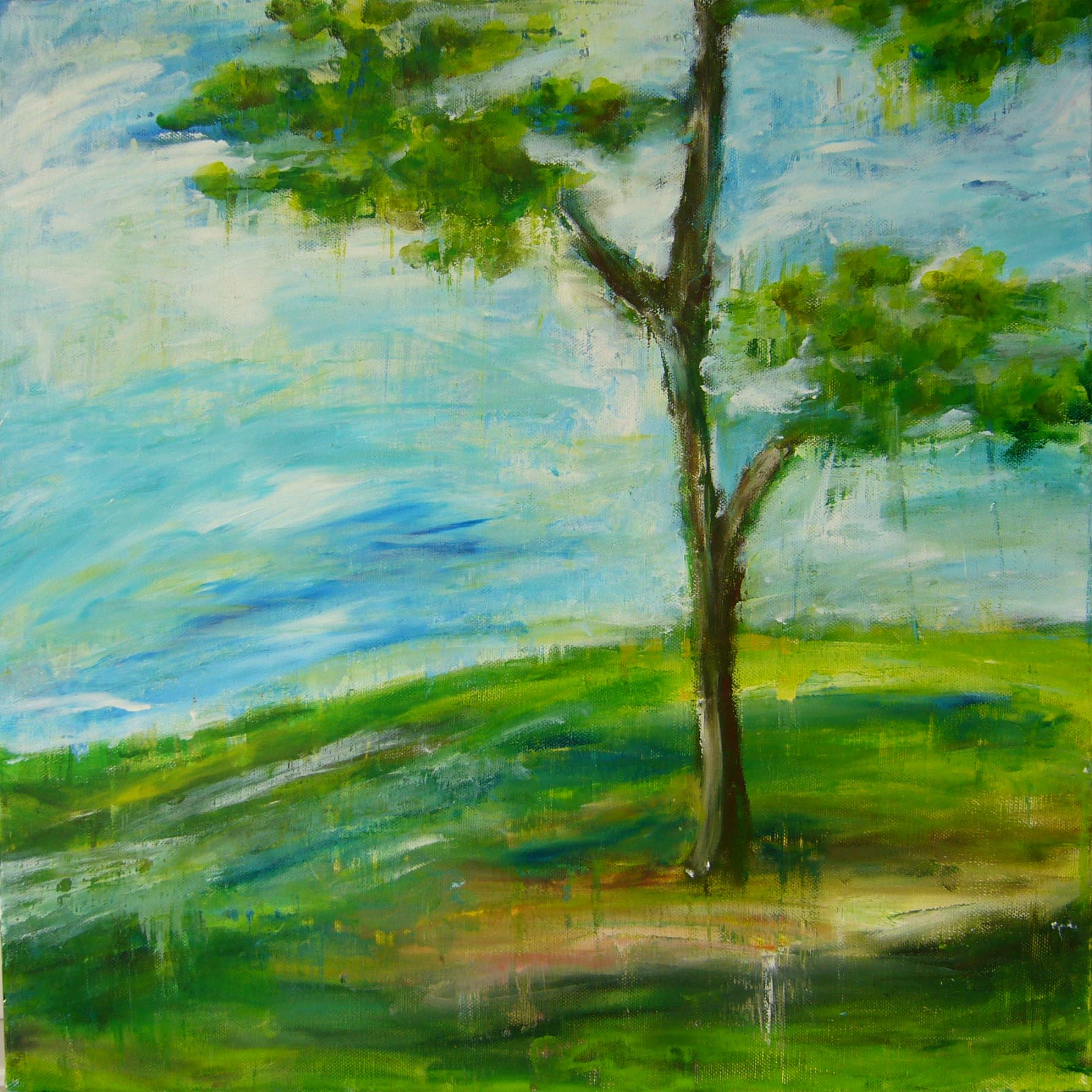 disparu tree sky landscape painting