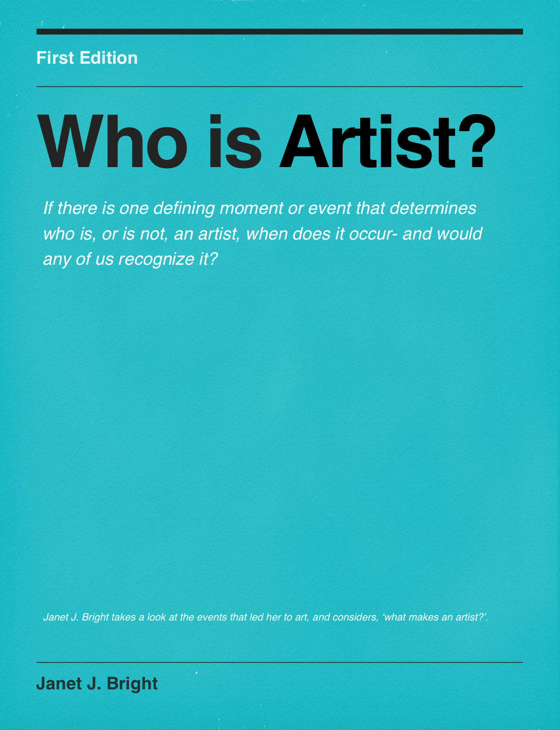 Who is Artist? Read the Book. Free on iTunes
