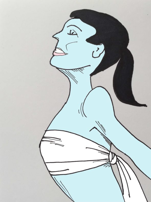 art every day number 44 drawing illustration couturier fashion