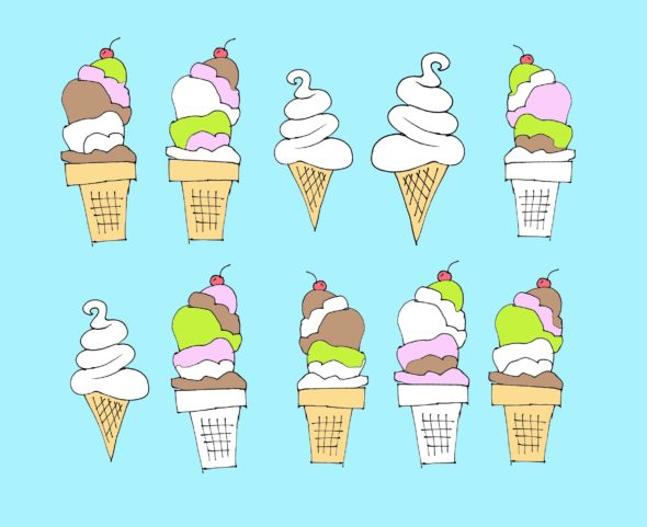 art every day number 43 ice cream drawing illustration janet bright