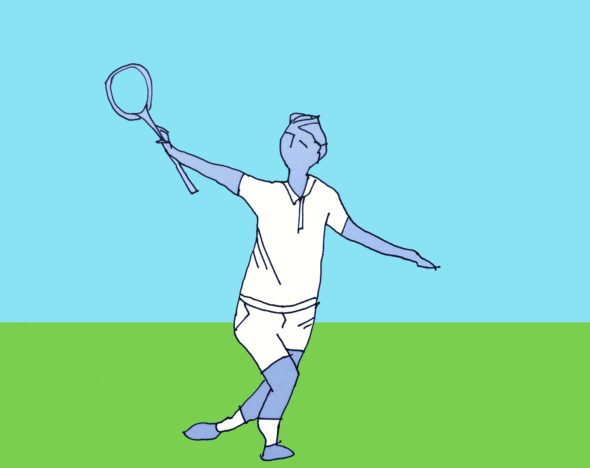 art every day number 72 illustration drawing bad form tennis