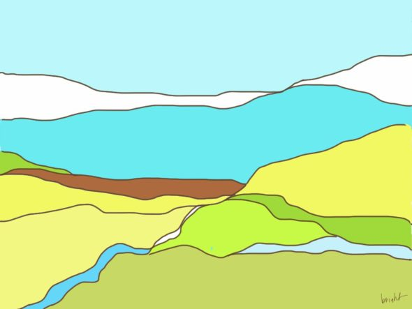 art every day number 74 drawing digital prairie long range