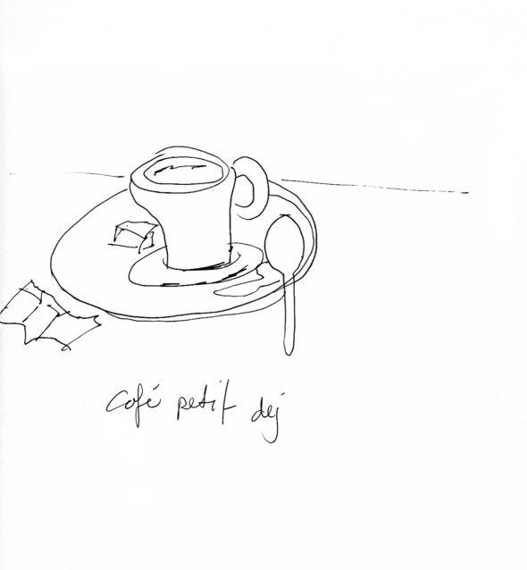 art every day number 54 drawing petit dejeuner