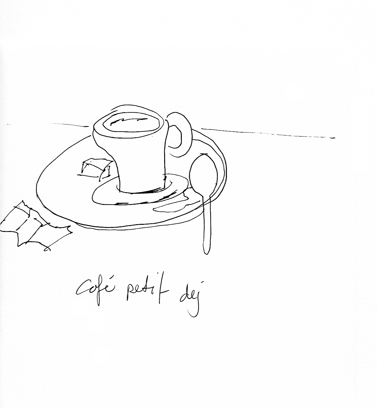 art every day number 54 / drawing / illustration / café petit déj