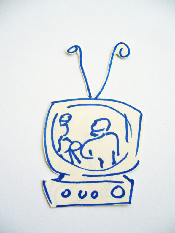 art every day number 98 drawing illustration tv television something to see