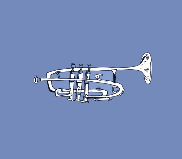 art every day number 116 illustration drawing trumpet