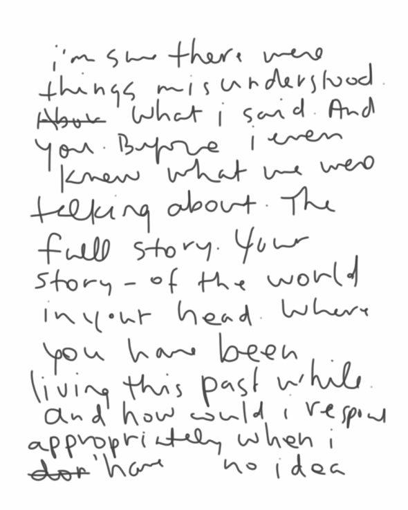 art every day number 131 misunderstood handwritten notebook