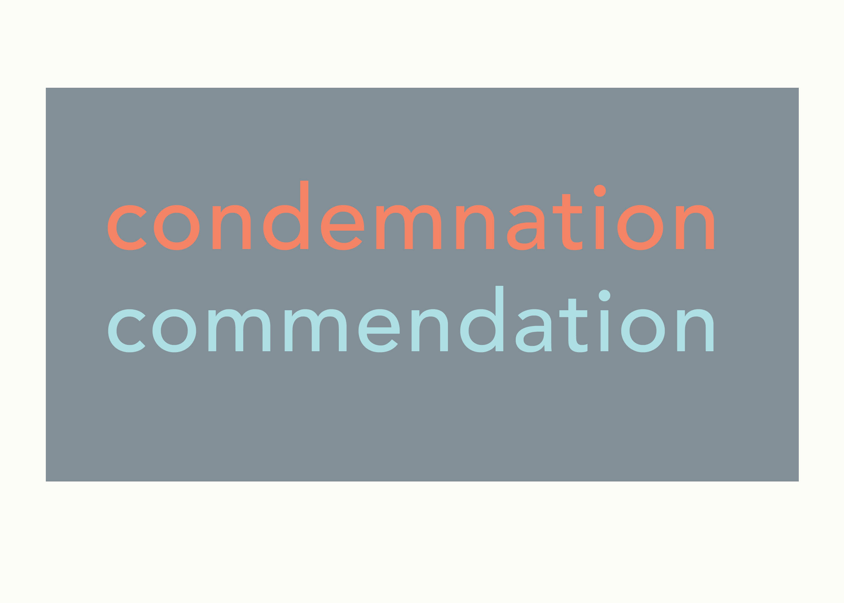 art every day number 158 words condemnation commendation