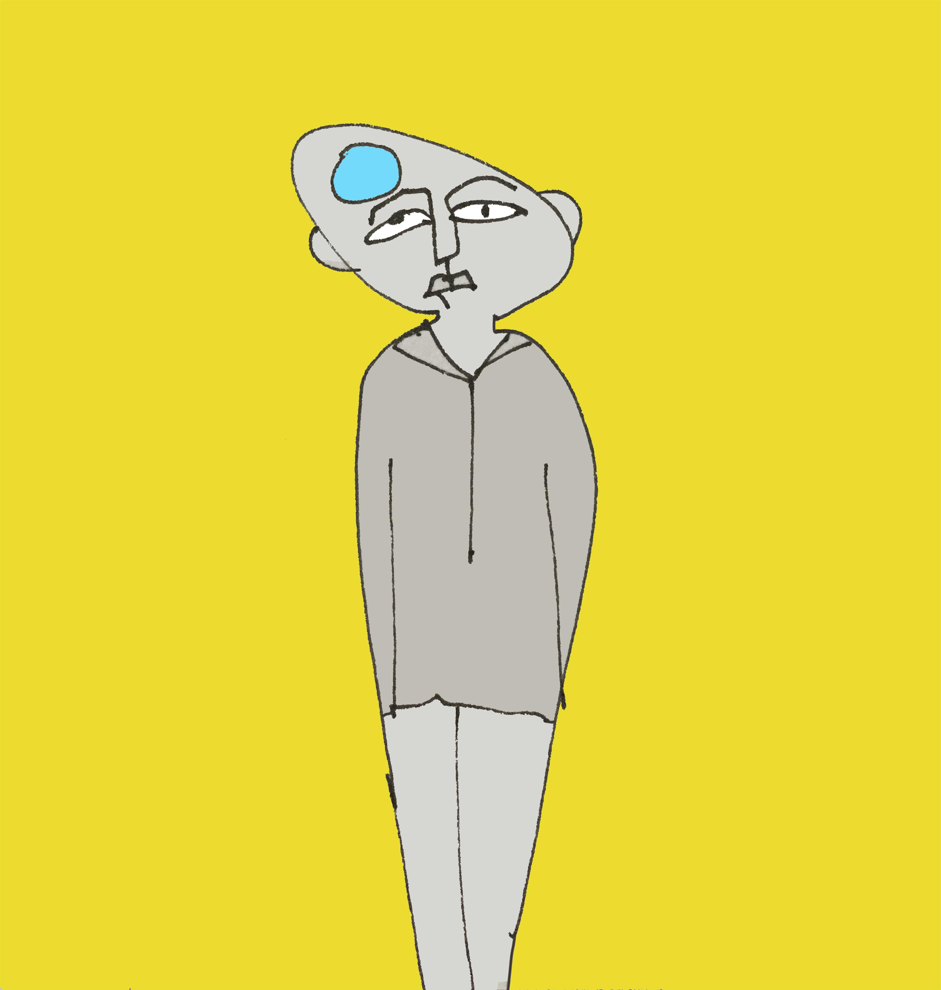 art every day number 183 big idea man on yellow