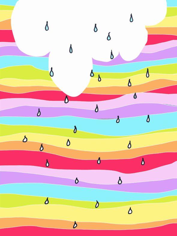 fall showers colour cloud rain illustration drawing