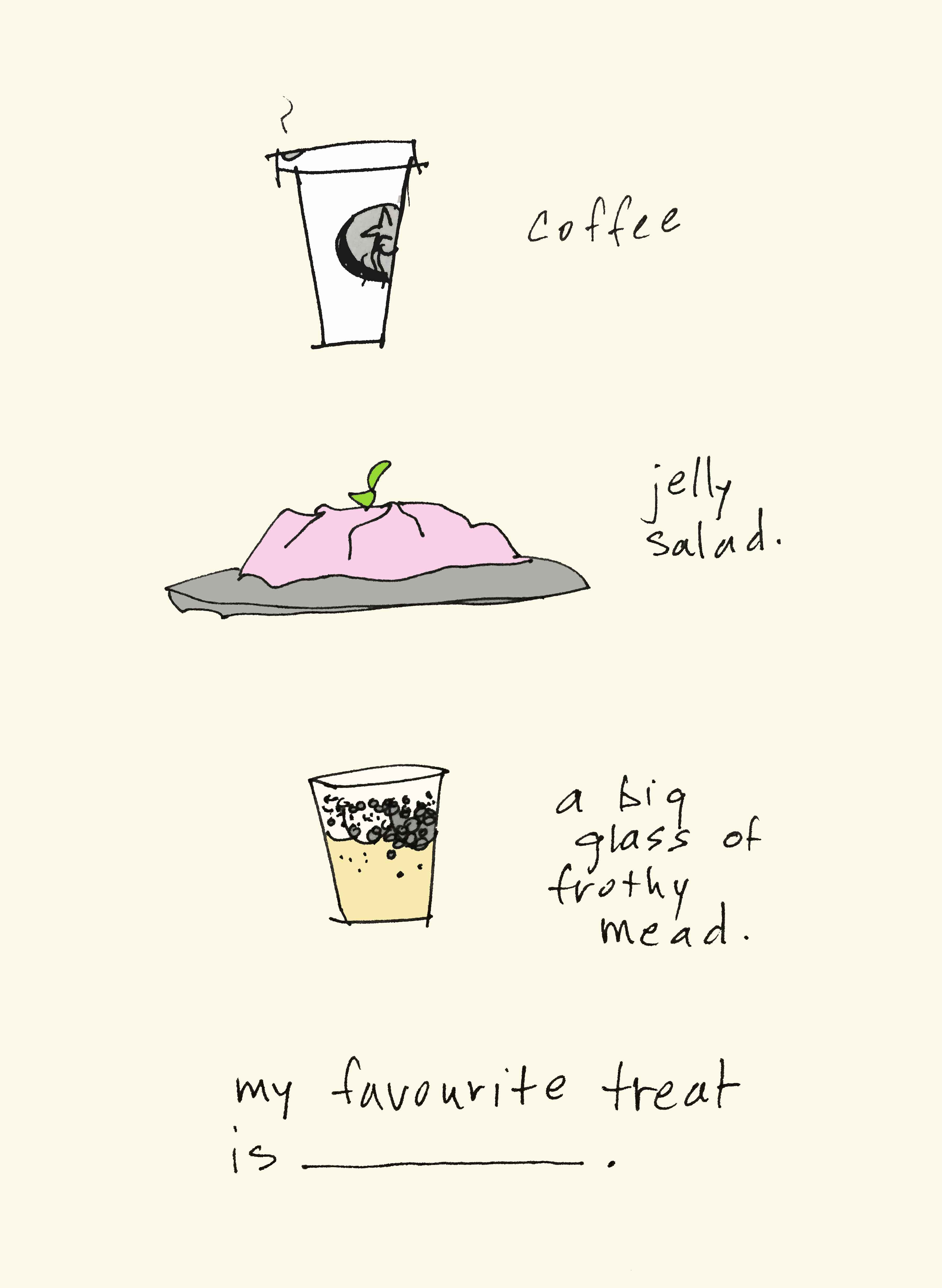 art every day number 178 illustration drawing words favourite treat