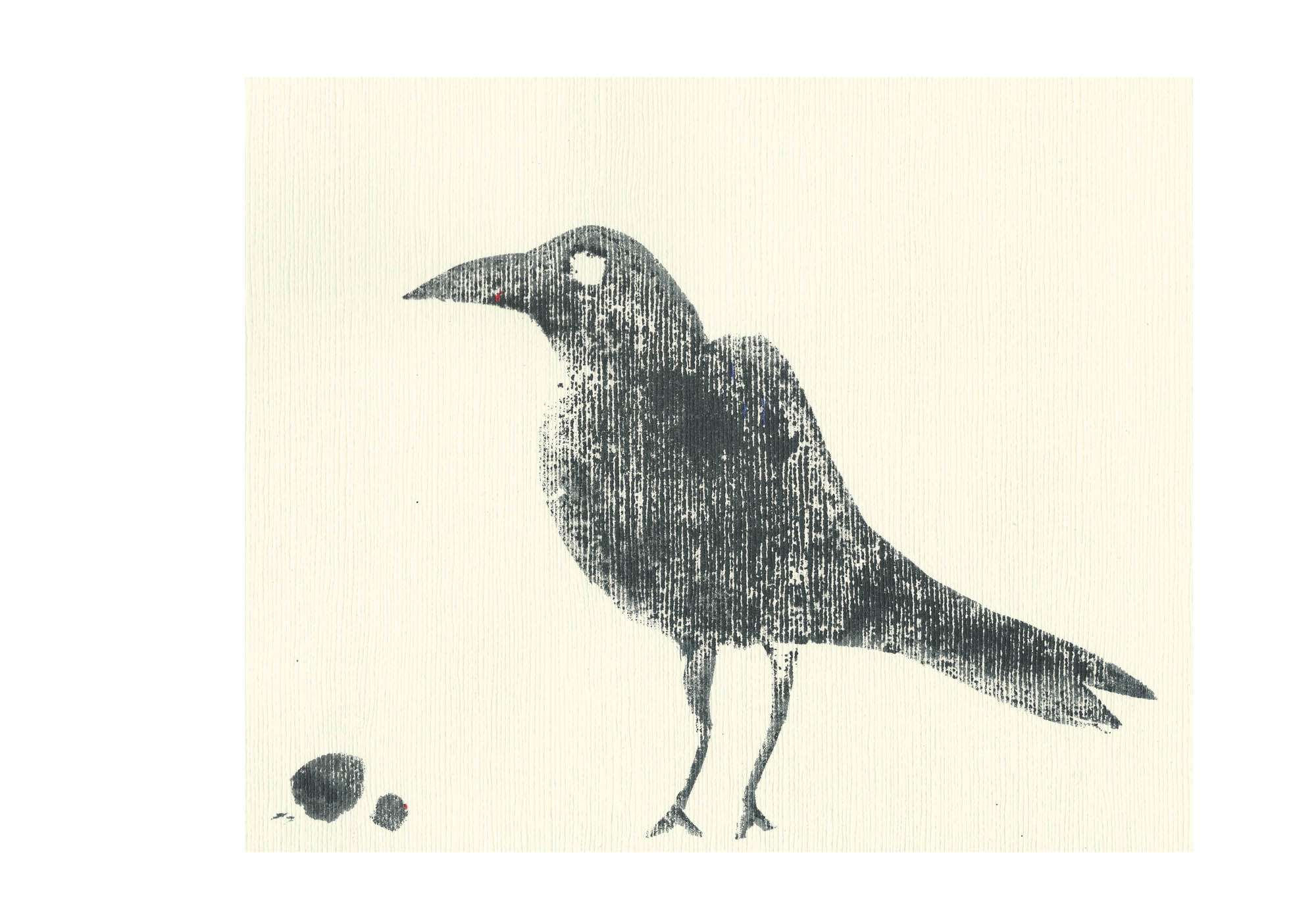 art every day number 189 crow ink print