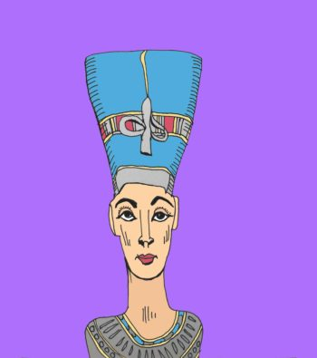 art every day number 186 drawing digital colour royal bust