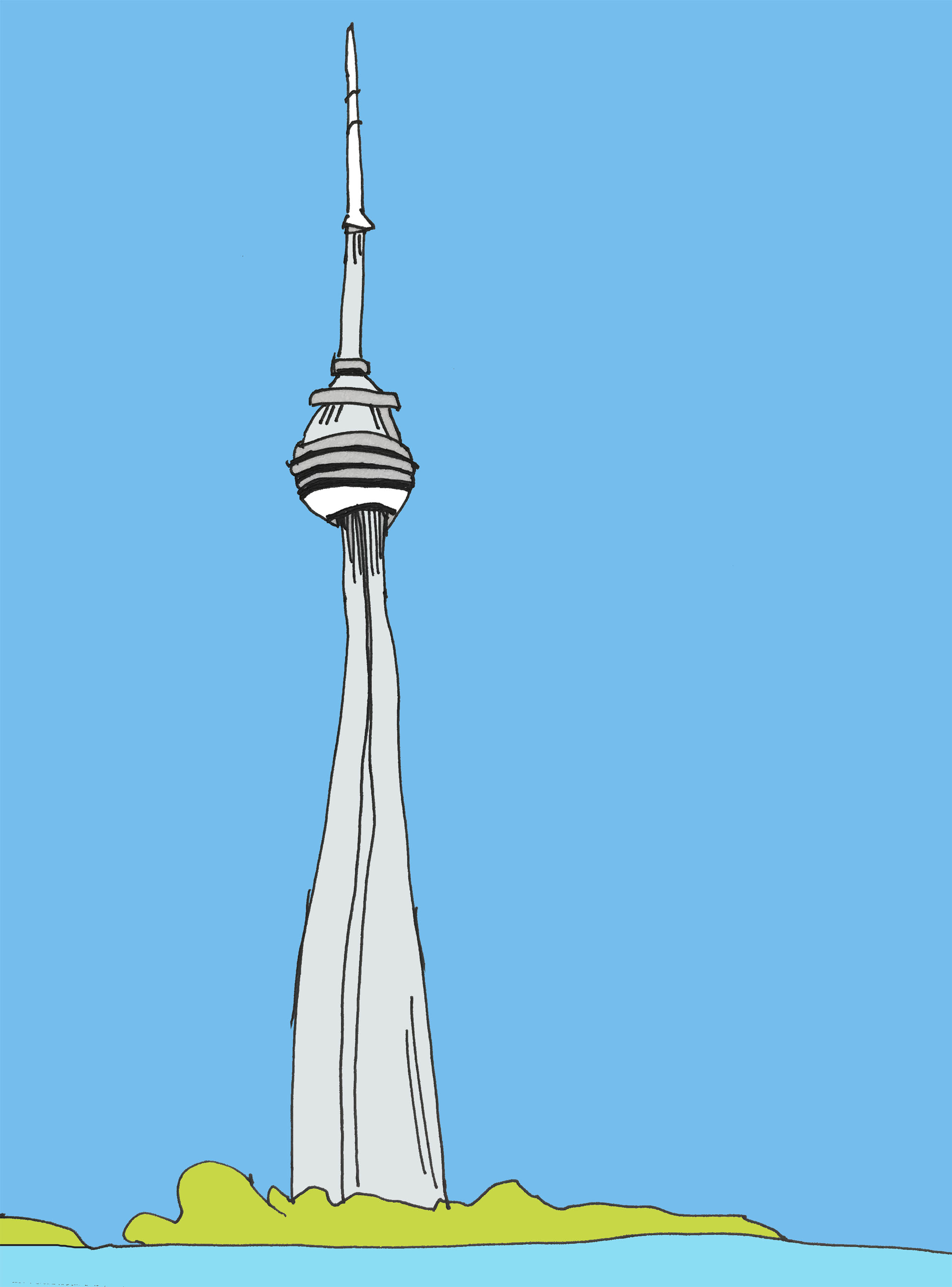 art every day number 202 the tower drawing