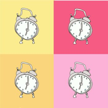 art every day number 205 alarm time illustration