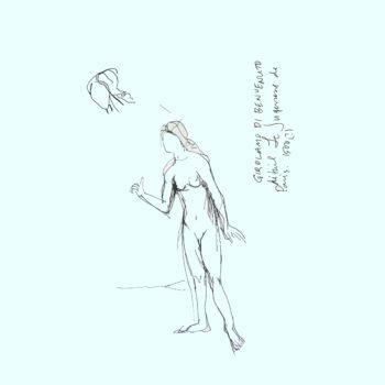 art every day number 243 Jugement de Paris sketch louvre