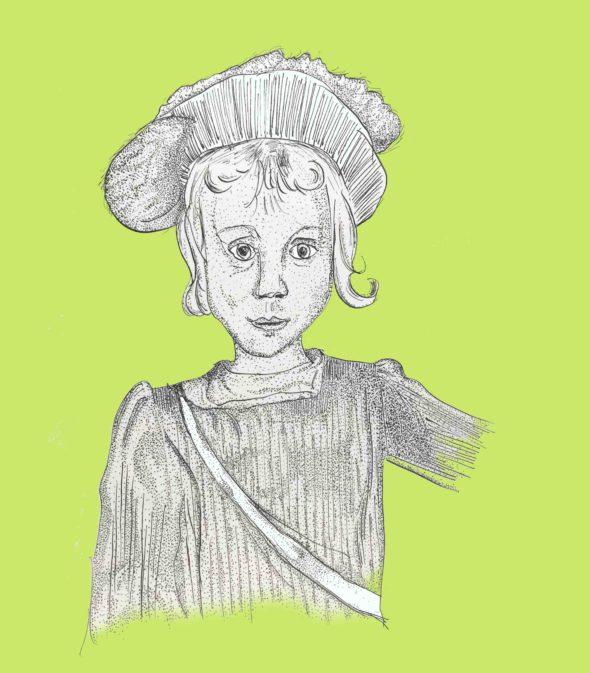 art every day number 242 boy ink interpretation drawing illustration