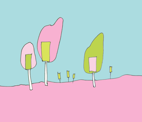 art every day number 247 candy (trees) landscape imagined sketch