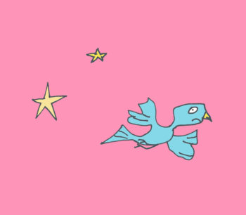 art every day number 241 bird losing way how did i get here illustration