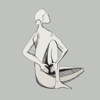 art every day number 232 naked yoga letting go freedom illustration