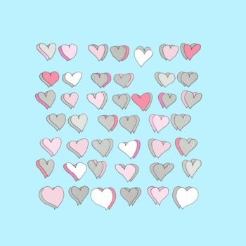 art every day number 236 paper hearts illustration pink