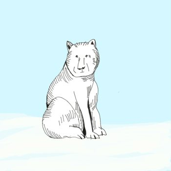art every day number 237 polar blue bear blue white